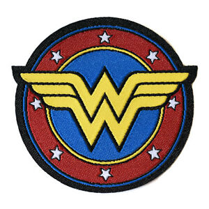 Wonder-Woman-Iron-On-Patch-Super-Hero-Logo-Embroidered-Sew-On-Feminist