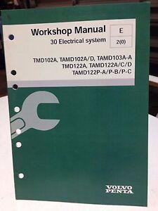 volvo penta workshop manual 30 electrical system p n 7743402 dbx2 rh ebay com Volvo Penta Engine Diagram Volvo Penta Trim Switch