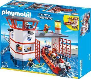 Playmobil City Action 5539 - Poste de la Garde côtière avec phare, nouveau et OVP