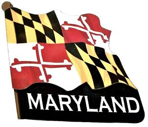 Maryland Flag Artwood Fridge Magnet
