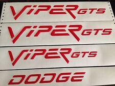 1996-2002 Dodge Viper GTS hood side & rear bumper emblem kit 4 pc RED NEW