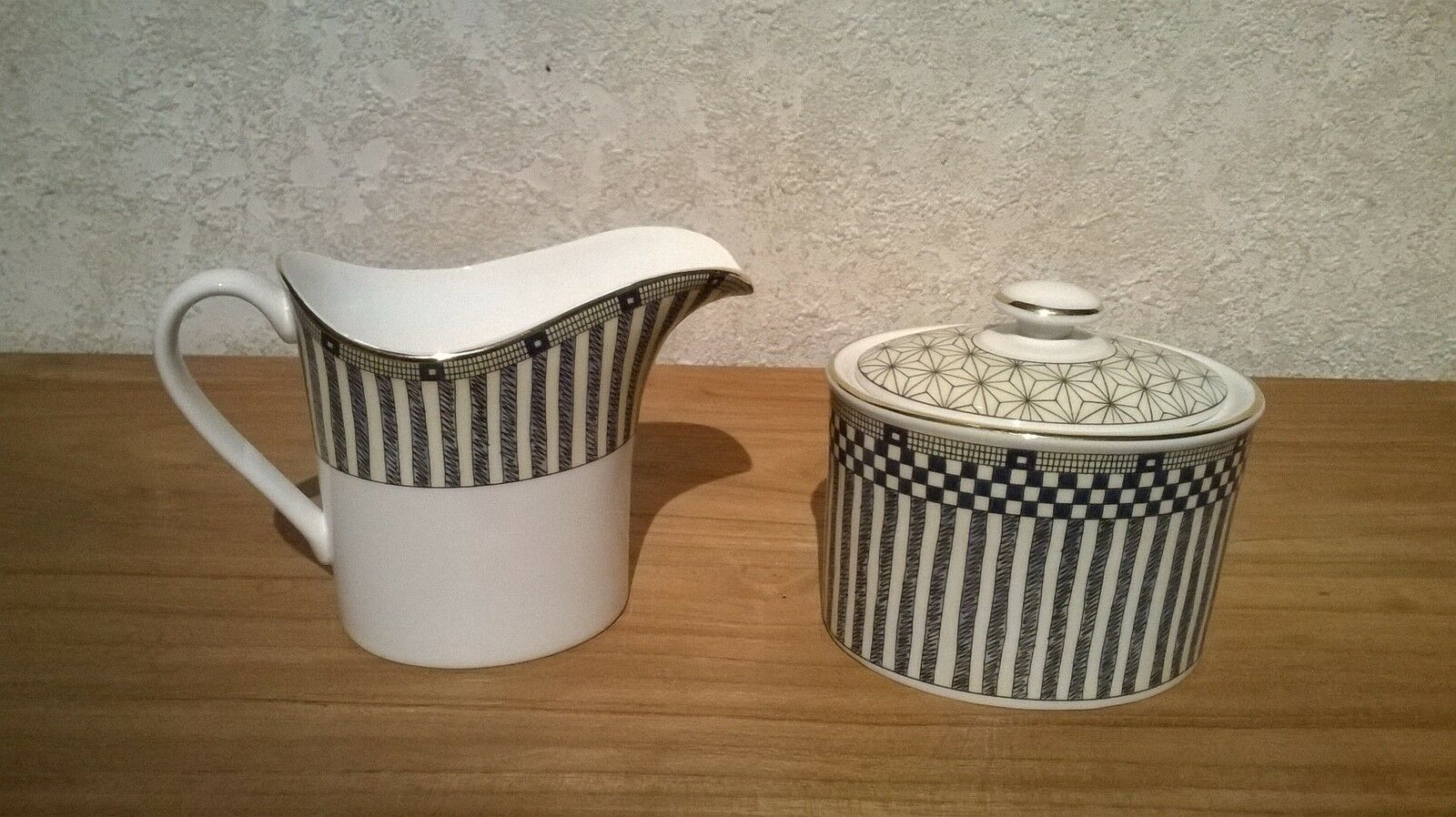 Wedgwood NEW Samurai 5017090 Set Sucrier + Crémier Sugar bowl + milk jug