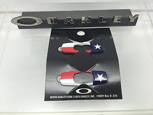 bd65361cb7f76 Image is loading AUTHENTIC-OAKLEY-BATWOLF-REPLACEMENT-ICONS-TEXAS-FLAG-08-
