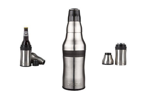 Orca Rocket Bottle and Can Holder with Shot Cup And Bottle Opener BRAND NEW