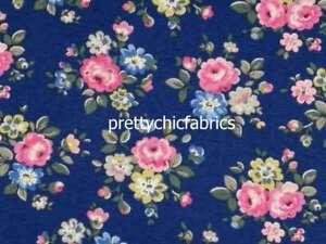 1-45M-Latimer-Rose-Navy-Cath-Kidston-Cotton-Duck-Fabric