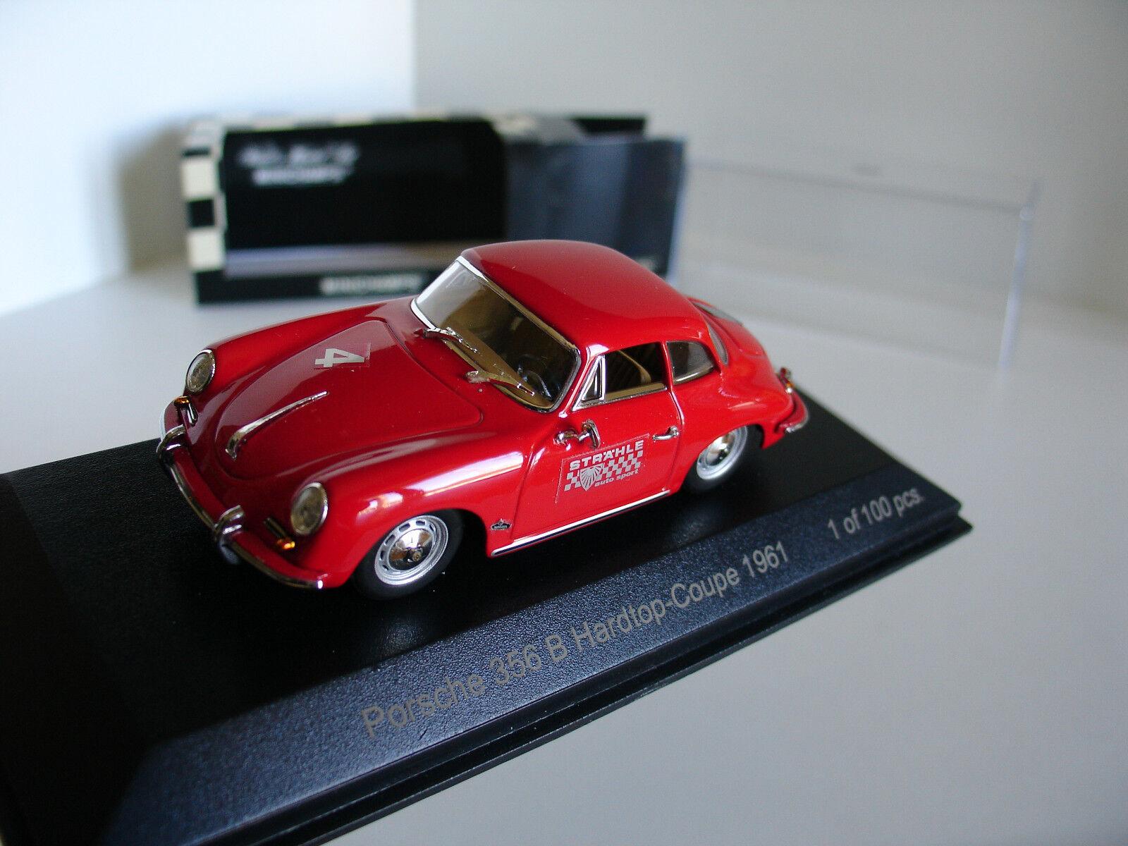 sconto prezzo basso 1 43 43 43 PORSCHE 356B HARDTOP-COUPE 1961  4 rosso LIMITED edizione 100pcs by MINICHAMPS  distribuzione globale