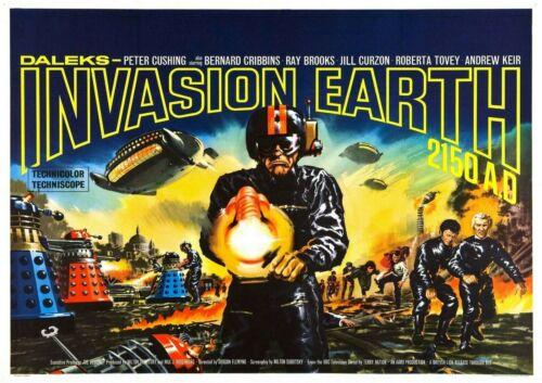 DALEKS INVASION EARTH 2150 AD VINTAGE MOVIE POSTER FILM A4 A3 ART PRINT CINEMA