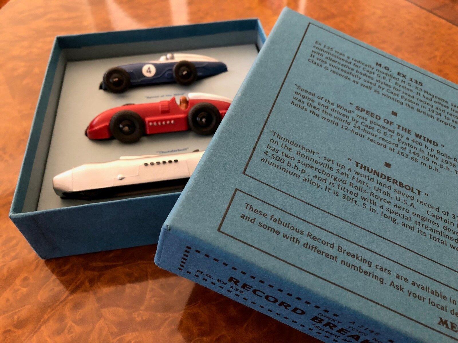 Vintage Dinky Toys MIB Nostalgische Rennfahren & Speed Rekord Autos Geschenkbox