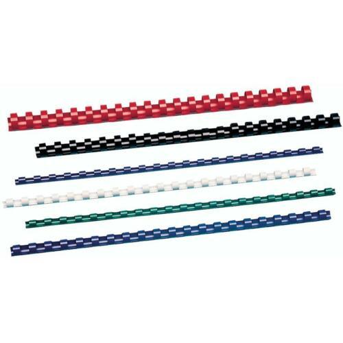 weiß DIN A4 19 mm GBC Plastikbinderücken CombBind