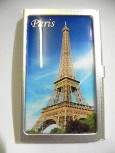 Cartes De Visite étui Paris Tour Eiffel, Métal, Business Card Holder, Neuf-all,business Card Holder,neufr-fr Afficher Le Titre D'origine
