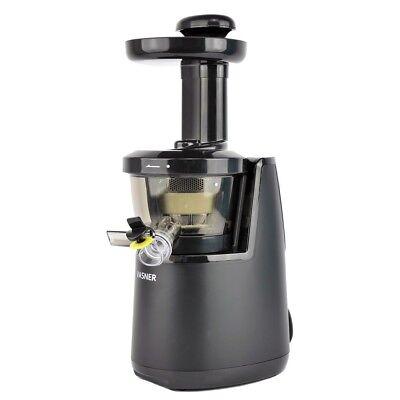 VASNER Juica Slow Juicer Entsafter elektrisch Saftpresse 150W, 60 U/min, schwarz