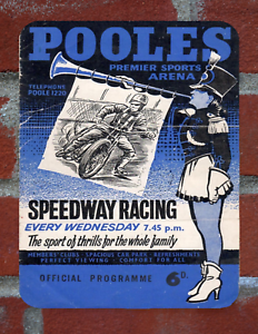 Vintage Tin Sign 1962 Poole Speedway Programme Metal Sign Man Cave