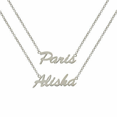 925 STERLING SILVER SEX CITY PERSONALISED ORDER WE MAKE ANY NAME CHAIN NECKLACE