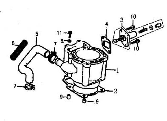 Cylinder Repair Kit Honda Helix Cn250 Jonway Yy250t Roketa Bms