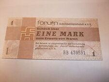 DDR Geld Geldschein Original DDR Forumscheck Banknote Eine 1 Mark Kassenfrisch