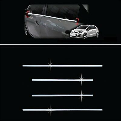 Chrome Window Accent Trim Molding Garnish For 12-16  Kia Rio 5d Pride Hatchback