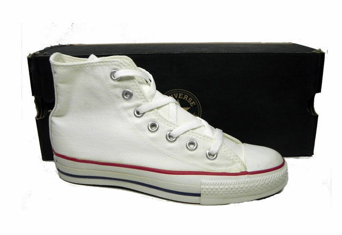 CONVERSE All Star Hi MADE IN USA Optic White Sneakers M7650 Women Shoes