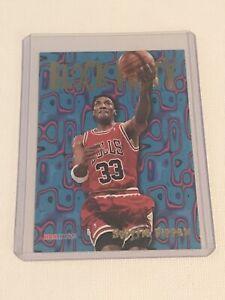 1995-96 Hoops Block Party Scottie Pippen Chicago Bulls Basketball Insert Card #3