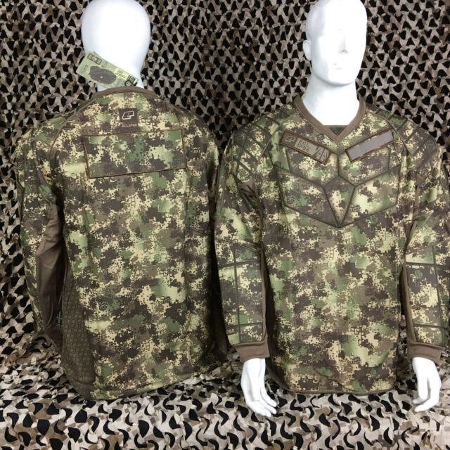 NEW Planet Eclipse HDE Tactical Padded Paintball Jersey - Camo - Large