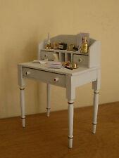 Dollshouse miniature ~ * French Style * DOVE GREY  ~ Desk & Accessories