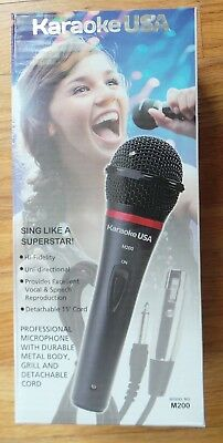 Karaoke USA M200 Professional Microphone with Durable Metal Case