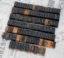 A Z Alphabet 142 Letterpress Wooden Printing Blocks Wood Type Vintage Print