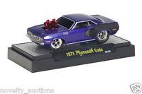 M63 81161 01 M2 Machine Ground Pounders 1971 Plymouth Cuda 09-03 Purple 1:64