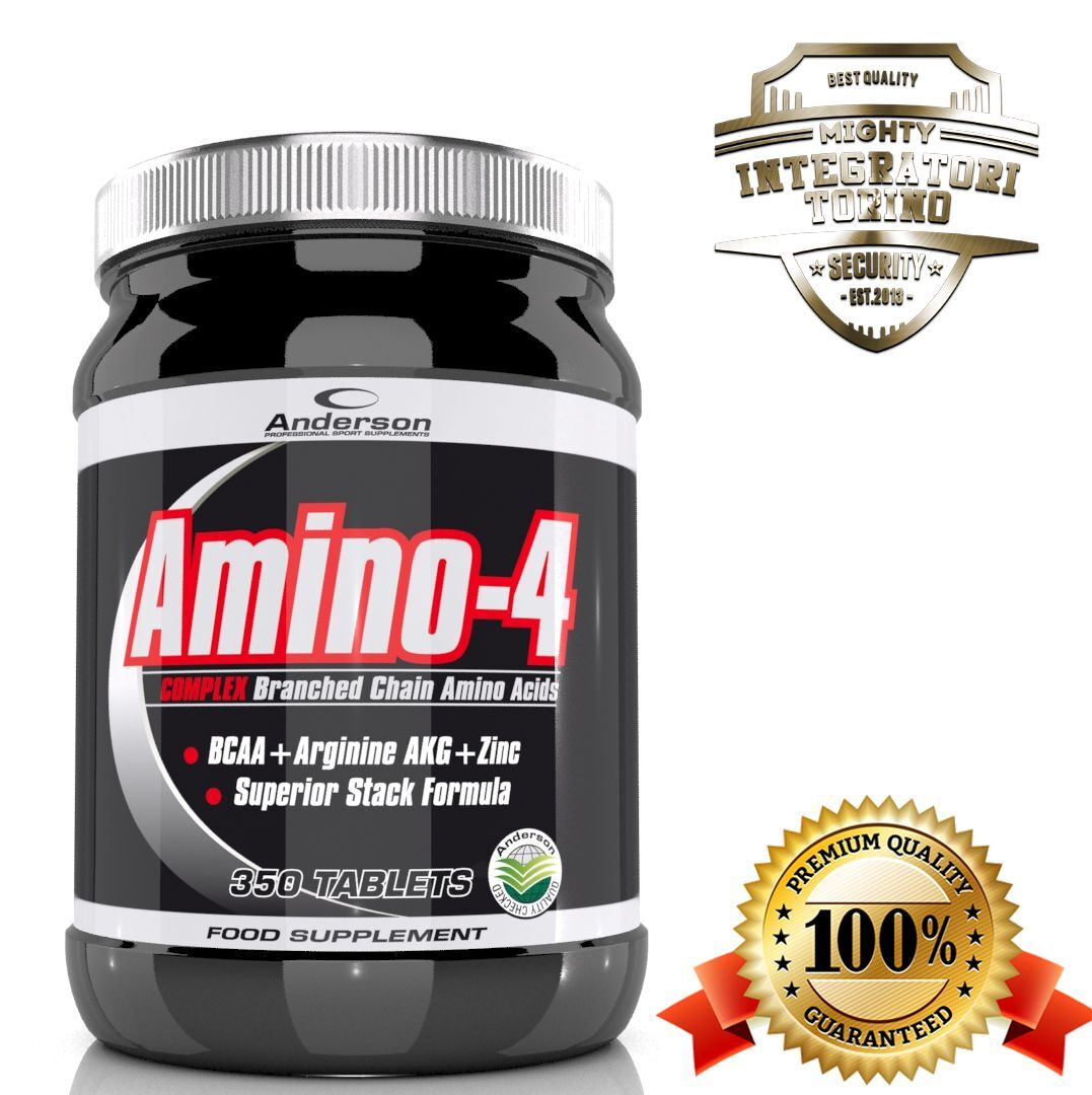 Anderson Amino-4 350 cpr Aminoacidi Aminoacidi cpr BCAA arricchiti con Arginina AKG Zinco VitB6 65ea8b