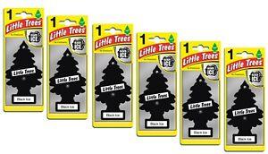 6 x Magic Tree Little Trees Car Home Air Freshener Freshener - BLACK ICE Scent