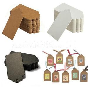 100pcs-Kraft-Paper-Gift-Tags-Wedding-Birthday-Scallop-Label-Blank-Luggage