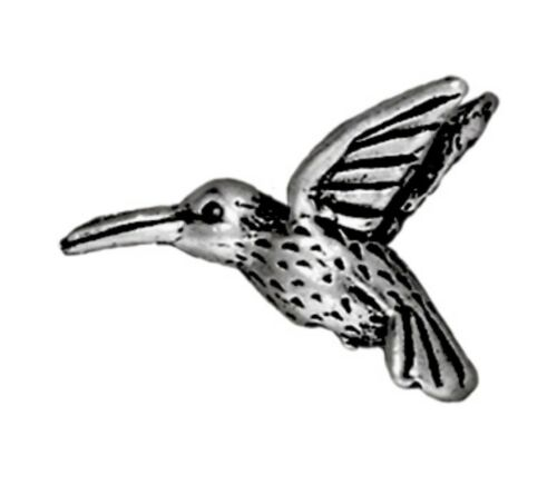 TierraCast Hummingbird Bead T164 Antique Silver Plated Lead-Free Pewter
