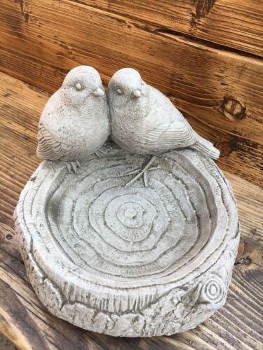 Twin Bird Bath/Feeder,garden stone birds in a bath,garden ornament cast stone da