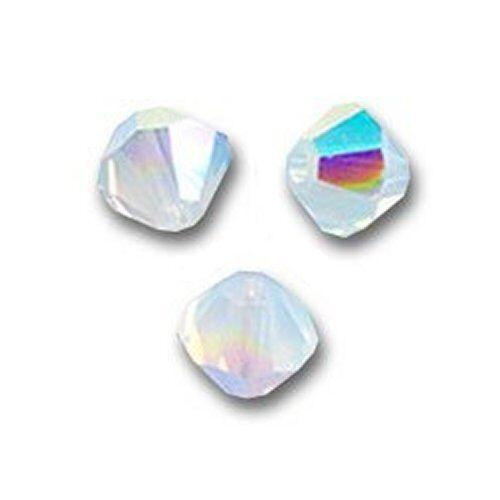 20 Perles Toupies 4mm en cristal Swarovski  WHITE OPAL AB 5328 Xilion