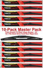 """10-Pack Trico 10-1 (x10) 10"""" Rear Wiper Blades Fit 9mm Hook Rear Wiper Arm"""