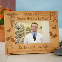 Personalized Pharmacist Wood Picture Frame Engraved Medical Photo Frame 3 Sizes