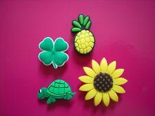 Clog Shoe Charm Button Plug Accessories Bracelet Sun Flower Owls