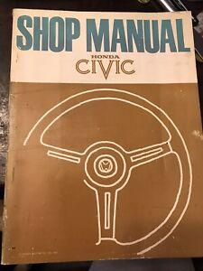 Honda Civic service repair Shop manual 1973