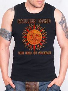Rollins Band The End Of Silence Tank Top Men Rock Athletic Vest Rock Band Shirt