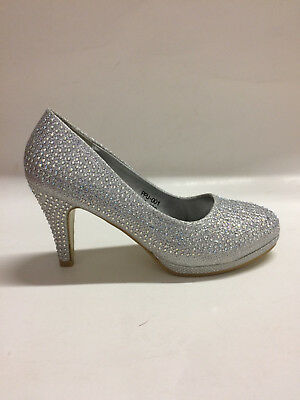 Bonnibel Women/'s Slip On Heels Hera-1 Silver