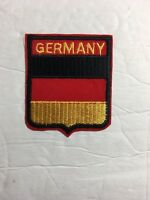 Germany Sheild Patch - Black Red Gold