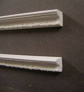 """2  HALF SCALE ~DETAILED  CROWN  MOLDINGS ~Dollhouse~1:24 scale ~ 1/2"""" ~ Artisan"""