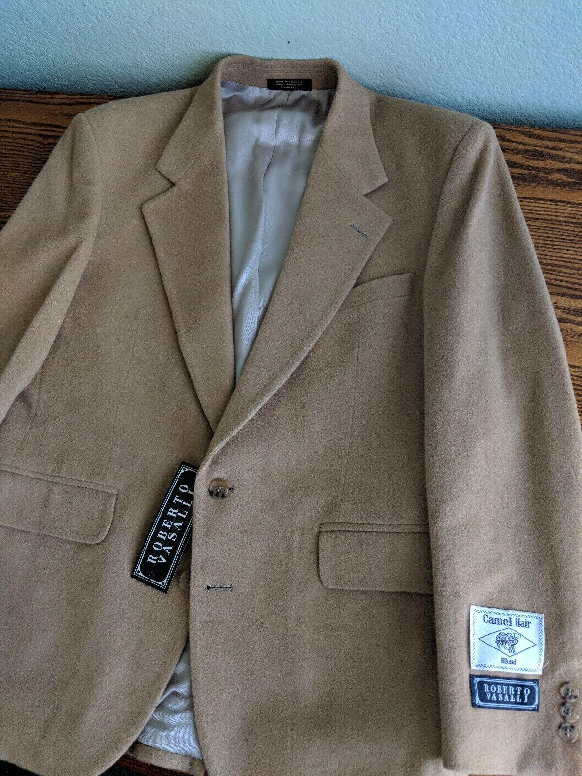 Roberto Vasalli Brown Sport Coat Mens Apparel Size 42R Camel Hair Blend blazer