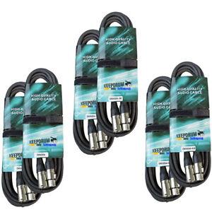 Keepdrum-DMX-Cable-Set-3-pol-XLR-par-2x-3m-10m-15m-Cable-Lumiere