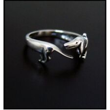 Dachshund Sausage Dog Weiner Dog Dachsie Doxie Antique Silver Effect Ring BN