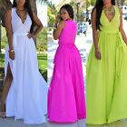 Women Summer Chiffon Long Maxi Dress Boho Evening Party Beach Cocktail Sundress