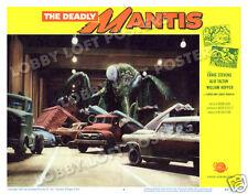 THE DEADLY MANTIS LOBBY SCENE CARD # 4 POSTER 1957 CRAIG STEVENS WILLIAM HOPPER