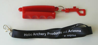 Blue Silicon Arrow Puller Grip with Lanyard and Latch Hobo Archery