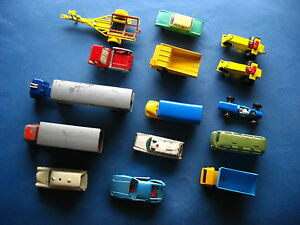 Konvolut-mit-alten-Matchbox-Siku-Lesney-Modellautos