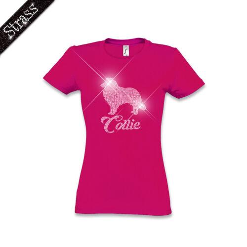 Cane Strass In Cotone Collie M1 Foto Maglietta Donna q4f8wCxa8
