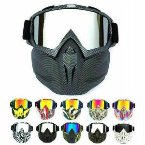 Face Shield Goggle Anti-Shock Scratch Detachable Eyewear Protective Glasses